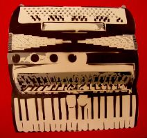accordian stencil by louuu