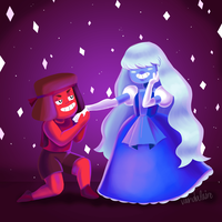 Ruby and Sapphire by Vandalaire