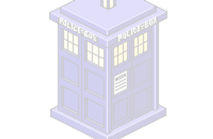 Isometric TARDIS by Infamy1984