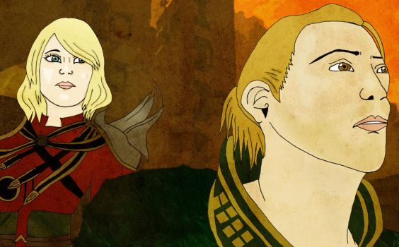 Dragon Age - Hawke and Anders by BloodCoveredBlossom