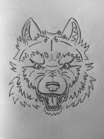Wolf face by StardogChampion94