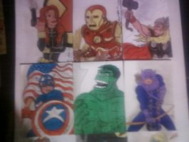 THE AVENGERS SKETCH CARDS by shawncomicart