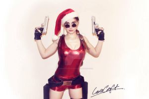 Tomb Raider Christmas by LauraCraftCosplay