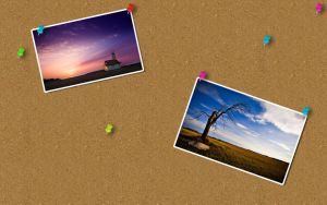 Corkboard Wallpaper With PSD by randomus-r