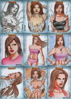 Witchblade Sketch Cards Set 6 by wardogs101