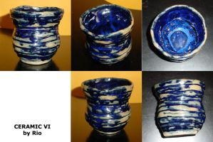 Mini Blue Vase by rioka