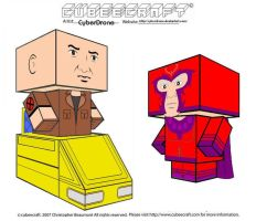 Cubeecraft-Prof X and Magneto by CyberDrone