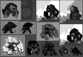 Titan (Behemoth) Working Sketches by ScottFlanders