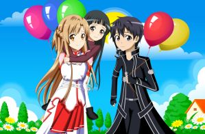 .: SAO : Balloons :. by Sincity2100