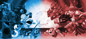 -The Most Underrated Kirby Klash- Blue vs Red ver. by ShadowScarKnight