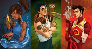 Legend of Korra mini pin-ups by yume-darling