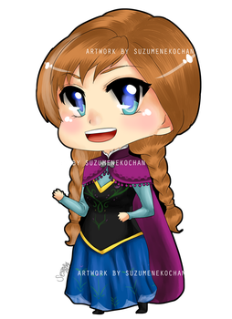 Frozen-Anna chibi 4x6 by suzumecreates