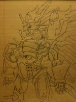 Shinegreymon Drawing by Omnimon1996