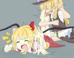 Marisa tickling Flandre by AkenoSora by neverb4