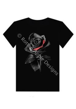 Black rose tshirt  by ricks1556