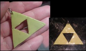 Triforce charm commission by FallenAngelKrisi