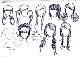 Long hair styles for girls by puccalabsgaru