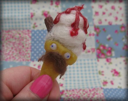 Mr Whippy Ice Cream Brooch by Unfairytales