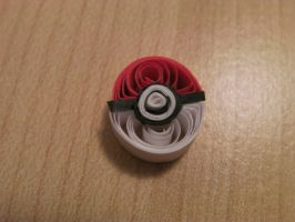 Paper Quilled Pokeball by cunningcatcrafts