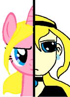 sonias pony and humen face by buttercup234