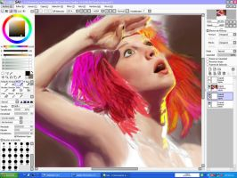 Hayley Williams W.I.P. by DiSaray