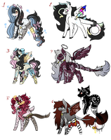 MLP Song Themed Adopts - AUCTION - CLOSED by KatsLovelyAdopts