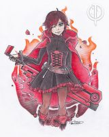 Ruby Rose - RWBY by CaelumPicta