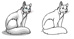 Free Fluffy Cat Lineart by TheCalicoTabby