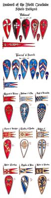 Leaders of the First Crusade Shield Designs by Theophilia