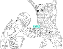Dead Space line art by noahrifa