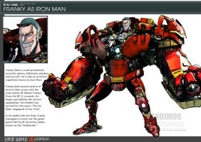 One Piece Avengers Franky as Iron Man by AndiMoo