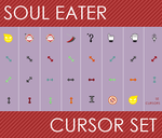 Soul Eater Cursor Set by thelifeofabinder