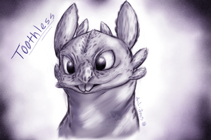 Toothless Sketch by Cattensu