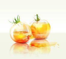 Glass Yellow Tomatoes by AlexandraF