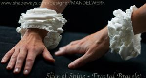 Slice of Spine -Two Vertebrae -3D printed Bracelet by MANDELWERK