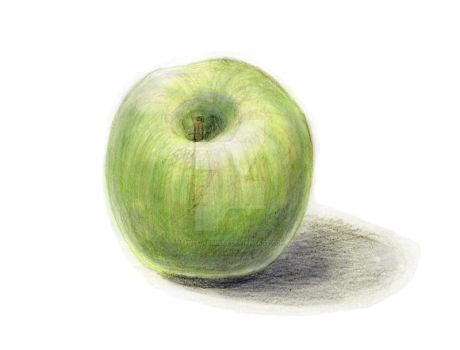 Apple Sketch 02 color by theblindalley