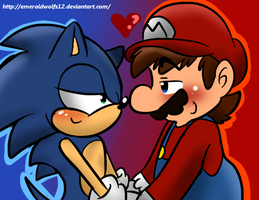 Mario and Sonic love by MariobrosYaoiFan12