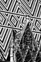 St Stephen's Roof 2. Mono. by johnwaymont