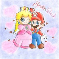 .:An adorable couple:. by CloTheMarioLover