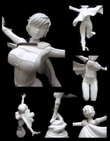 Power Girl Anime-Style 1:6 Scale Garage Kit by chiseltown