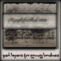 psd layers for grungy brushes by AzurylipfesStock