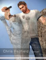Chris Redfield 'Casual' mesh-mod for XNALara by raccooncitizen
