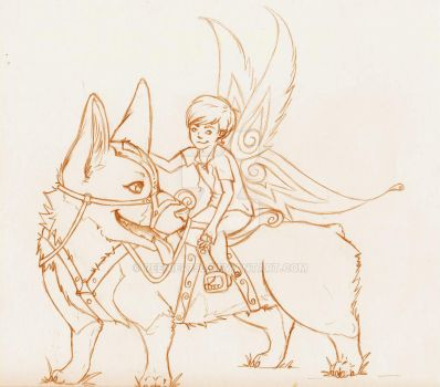 A boy and his mount sketch by reenie4790