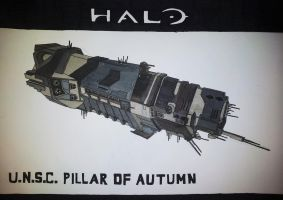 UNSC Pillar of Autumn by LighterShadeOfGrey72