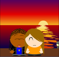 South Park at Sunset by DJCatt