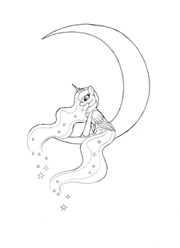 Luna coloring page by Langustka
