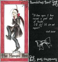 Kuro-Tarot No.4:The Hanged Man by SterlingRaven