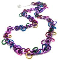 Purple Chain Rainbow Necklace by fairy-cakes