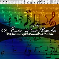 19 Pk Music Note Brushes by LW-Lucy