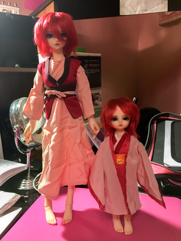 Rose and Poppy as Yona of the Dawn by chaosisters147